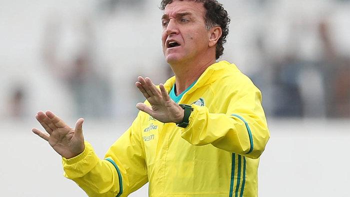 Técnico Cuca estava invicto há oito jogos no comando do Palmeiras. (Cesar Greco/Ag.Palmeiras/Divulgação)
