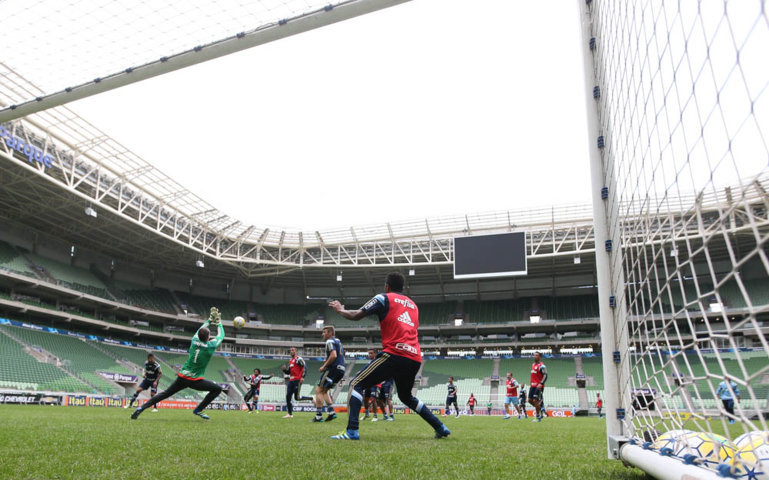 Palmeiras encerrou no Allianz Parque a preparação para estreia no Campeonato Brasileiro 2016. (Cesar Greco/Ag.Palmeiras/Divulgação)