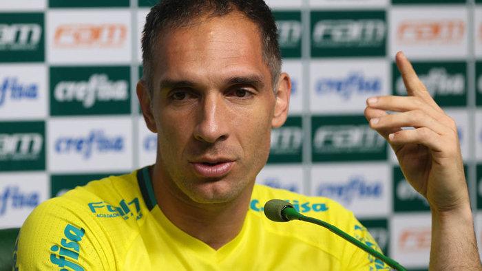 Ídolo da torcida palmeirense, Fernando Prass acumula 184 jogos com a camisa do Verdão. (Cesar Greco/Ag.Palmeiras/Divulgação)