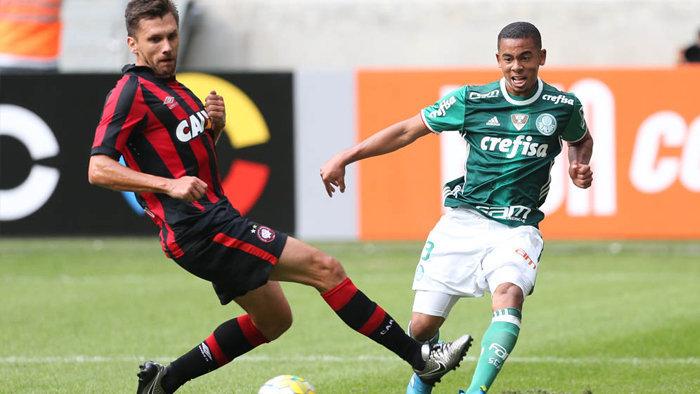 Gabriel Jesus marcou dois gols e foi o destaque da partida. (Cesar Greco/Ag Palmeiras/Divulgação)