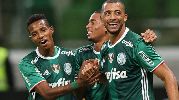 Palmeiras garantiu quarta vitória seguida sem sofrer gols no Allianz Parque Palmeiras garantiu quarta vitória seguida sem sofrer gols no Allianz Parque. (Cesar Greco/Ag.Palmeiras/Divulgação)