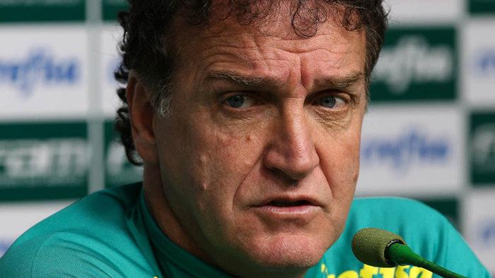 O técnico Cuca concedeu entrevista coletiva na Academia de Futebol após o treino desta sexta-feira (17). (Cesar Greco/Ag Palmeiras/Divulgação)