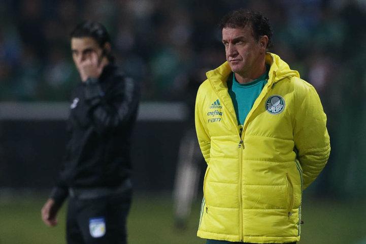 Para o técnico Cuca a paralisação afetou o resultado de forma direta. (Cesar Greco/Ag Palmeiras/Divulgação)