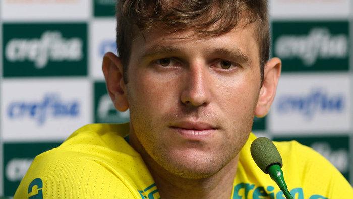 Após estreia diante do América-MG, Fabiano concedeu entrevista coletiva nesta quarta (22). (Cesar Greco/Ag.Palmeiras/Divulgação)