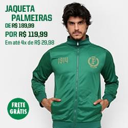 Aproveite o desconto na jaqueta do Palmeiras!