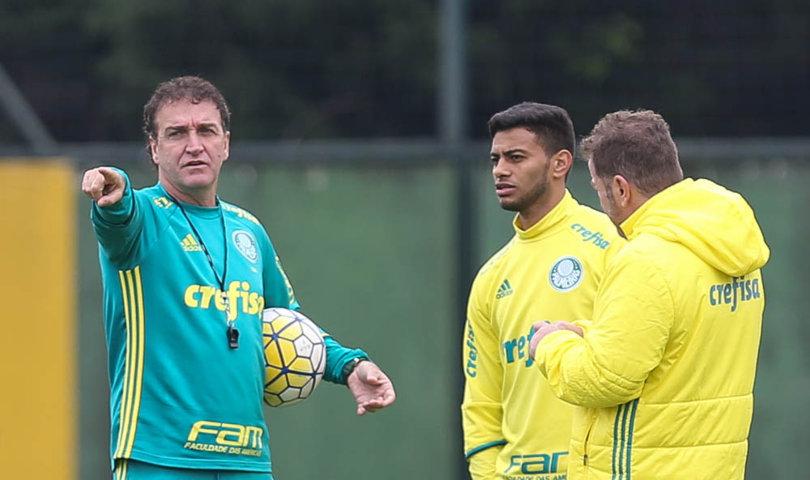Palmeiras trabalhou na manhã desta sexta-feira (22), na Academia de Futebol. (Cesar Greco/Ag Palmeiras/Divulgação)