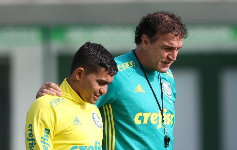 Além de Dudu, Cuca precisa definir quem deve compor o ataque contra o Santos. (Cesar Greco/Ag.Palmeiras/Divulgação)