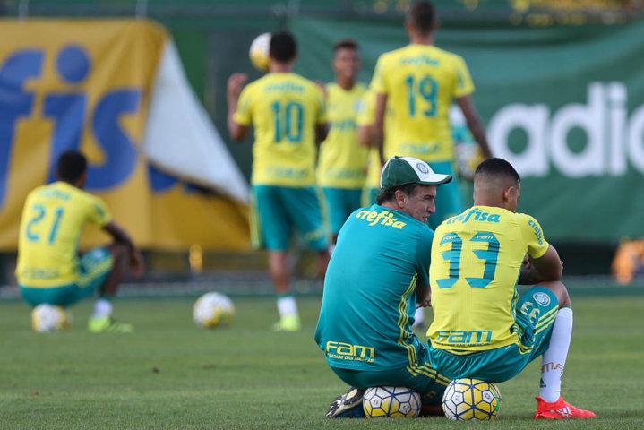 Elenco palmeirense segue preparação para partida diante do Internacional. (Cesar Greco/Ag.Palmeiras/Divulgação)
