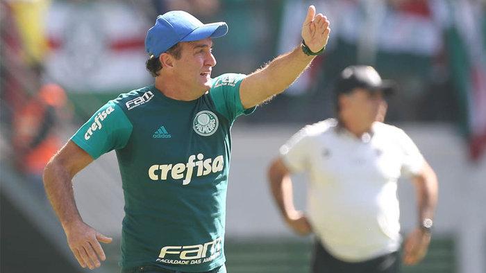 Cuca avaliou o revés e destacou a produção do ataque palmeirense. (Cesar Greco/Ag Palmeiras/Divulgação)