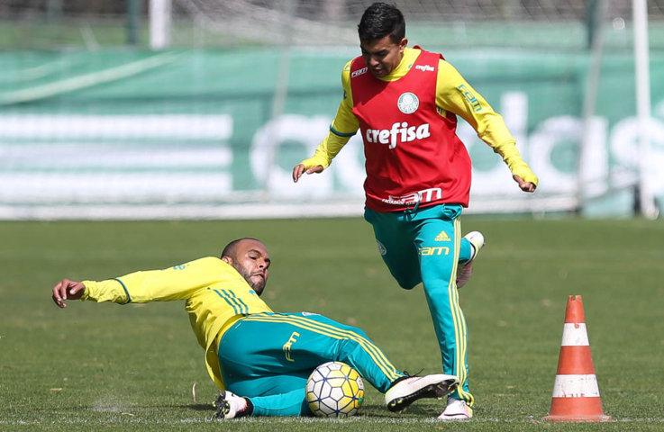 Palmeiras trabalhou na manhã desta quinta-feira (21), na Academia de Futebol. (Cesar Greco/Ag Palmeiras/Divulgação)