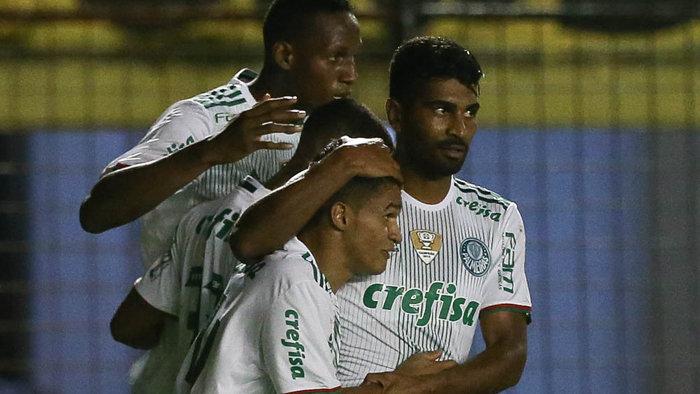 Titular diante do Sport, Erik marcou seu primeiro gol pelo Palmeiras. (Cesar Greco/Ag.Palmeiras/Divulgação)