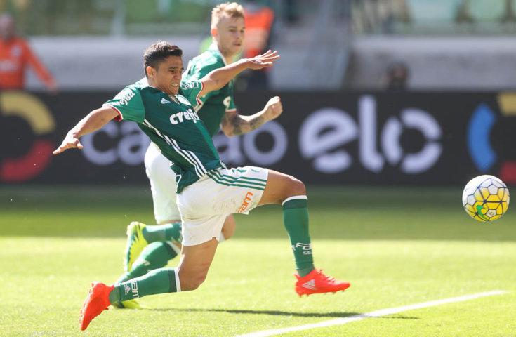 Erik foi titular no lugar de Gabriel Jesus, que está com a Seleção Olímpica. (Cesar Greco/Ag Palmeiras/Divulgação)
