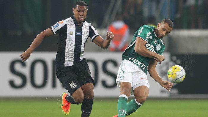 Palmeiras e Santos empataram em 1 a 1, nesta terça-feira (12), pela 14º rodada do Campeonato Brasileiro. (Cesar Greco/Ag.Palmeiras/Divulgação)
