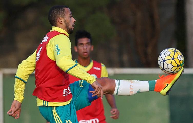 Elenco palmeirense voltou a trabalhar parte tática neste domingo (10). (Cesar Greco/Ag.Palmeiras/Divulgação)
