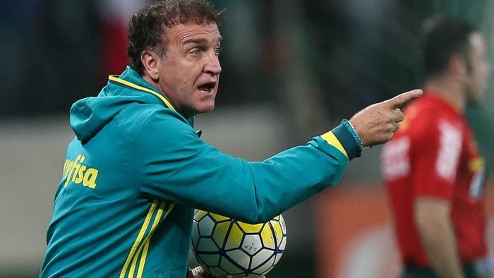 Cuca elogiou vantagem construída pelo Verdão nas oitavas da Copa do Brasil. (Cesar Greco/Ag.Palmeiras/Divulgação)