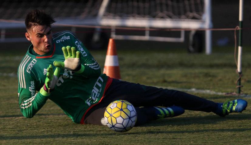 Daniel Fuzato já participou de diversos treinamentos com a equipe profissional do Verdão. (Cesar Greco/Ag.Palmeiras/Divulgação)