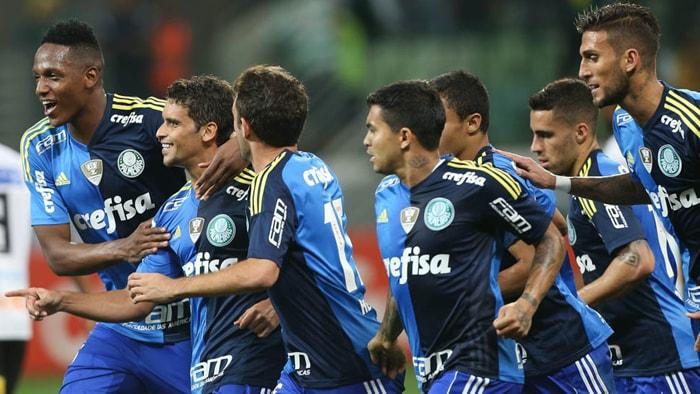 De pênalti, Jean marcou o primeiro gol da partida. (Cesar Greco/Ag.Palmeiras/Divulgação)