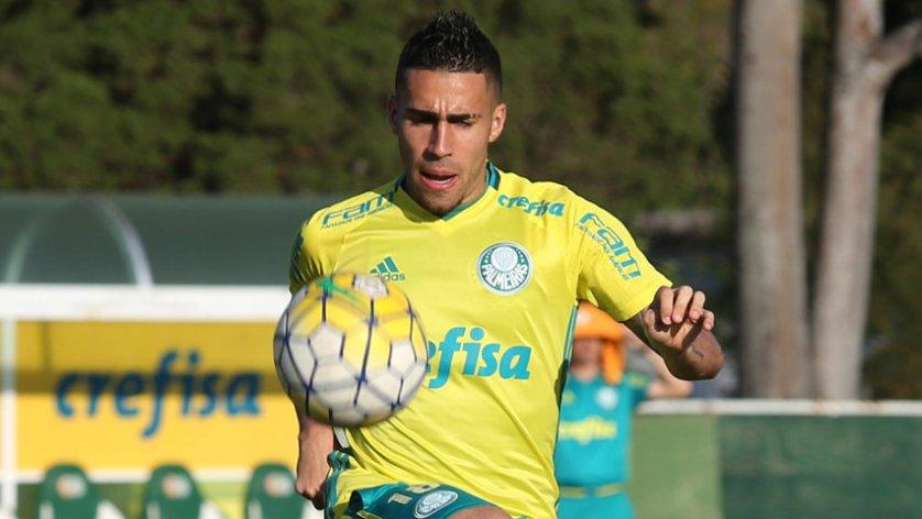 O volante Gabriel foi titular nesta quarta-feira (10). (Cesar Greco/Ag.Palmeiras/Divulgação)