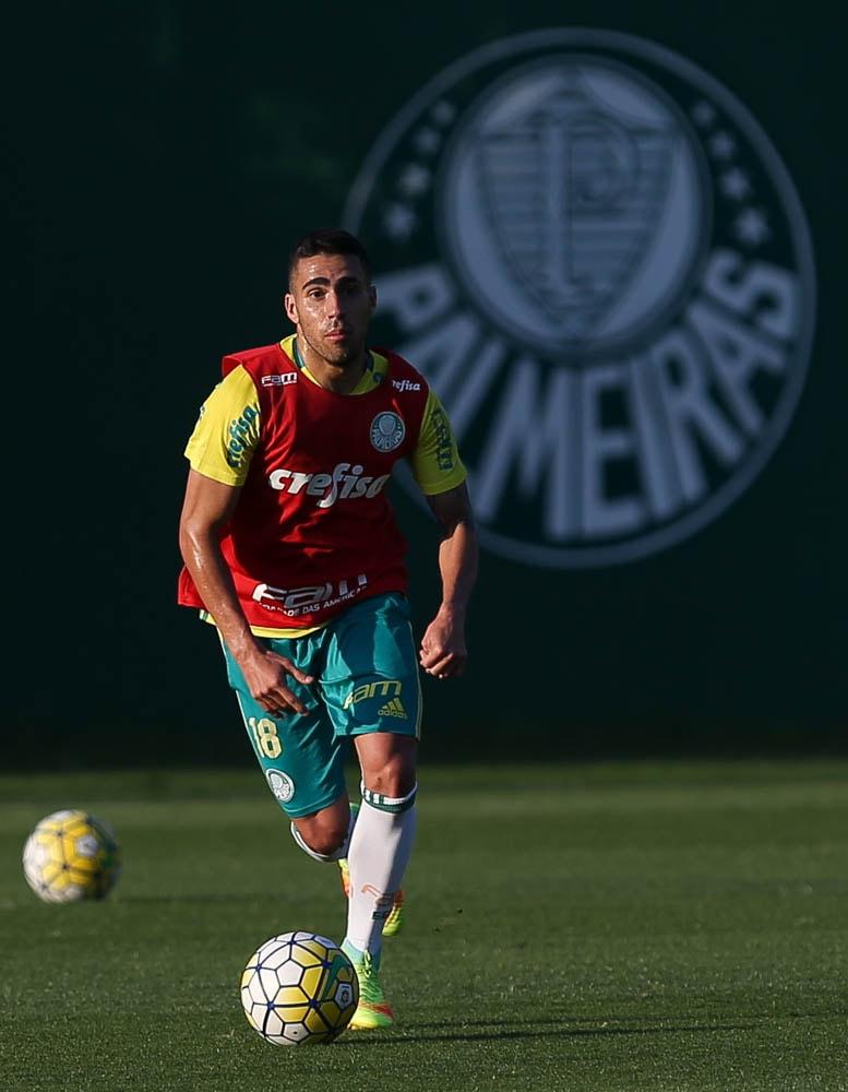 Volante Gabriel é opção para a partida contra o Fluminense, neste domingo (28). (Cesar Greco/Ag.Palmeiras/Divulgação)