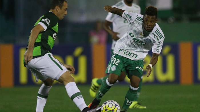 Após sofrer o gol, Verdão pressionou no segundo tempo e conseguiu o empate. (Cesar Greco/Ag Palmeiras/Divulgação)