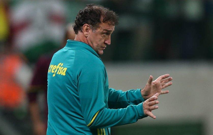 Contra o São Paulo, Cuca chegou à terceira vitória em clássicos no comando do Palmeiras. (Cesar Greco/Ag Palmeiras/Divulgação)