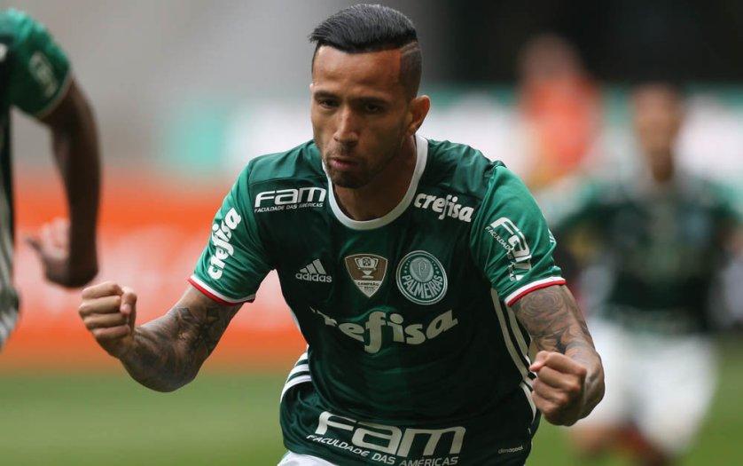 Leandro Pereira marcou seu primeiro gol desde que voltou à equipe, em junho deste ano. (Cesar Greco/Ag Palmeiras/Divulgação)