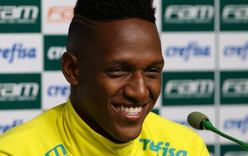 O zagueiro Mina marcou um dos gols da vitória sobre o São Paulo na última quarta-feira (08). (Cesar Greco/Ag Palmeiras/Divulgação)