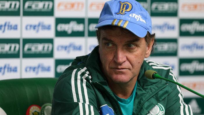 Cuca concedeu entrevista coletiva na Academia de Futebol nesta sexta-feira (07). (Cesar Greco/Ag.Palmeiras/Divulgação)