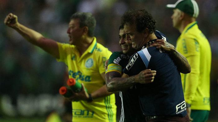 Cuca elogiou a maturidade de sua equipe. (Cesar Greco/Ag Palmeiras/Divulgação)