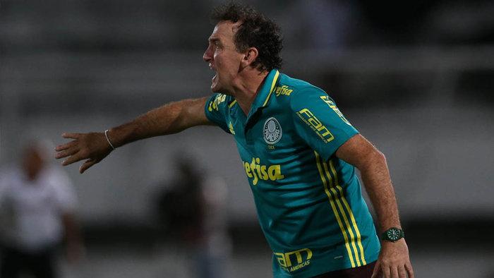 O técnico Cuca avaliou o rendimento do Verdão contra o Cruzeiro. (Cesar Greco/Ag.Palmeiras/Divulgação)