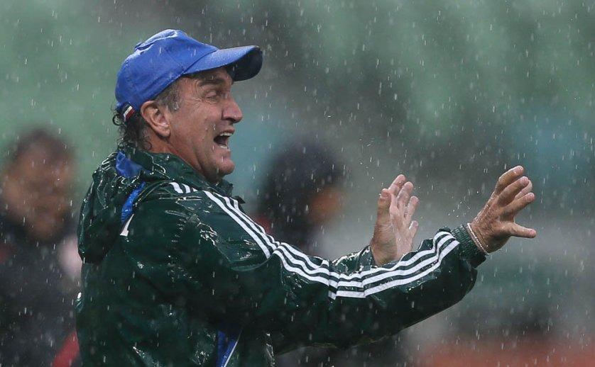 Cuca pediu calma ao elenco e torcida após mais uma vitória. (Cesar Greco/Ag.Palmeiras/Divulgação)