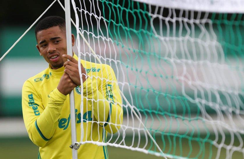 O elenco do Palmeiras treinou na Academia de Futebol na manhã desta quarta-feira (23). (Cesar Greco/Ag Palmeiras/Divulgação)