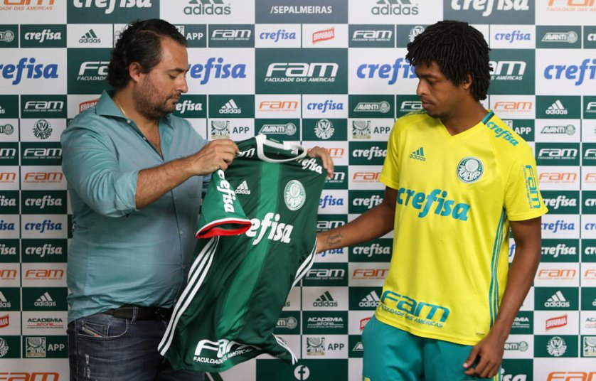 Destaque do último Campeonato Brasileiro, Keno foi apresentado nesta terça (10). (Cesar Greco/Ag.Palmeiras/Divulgação)