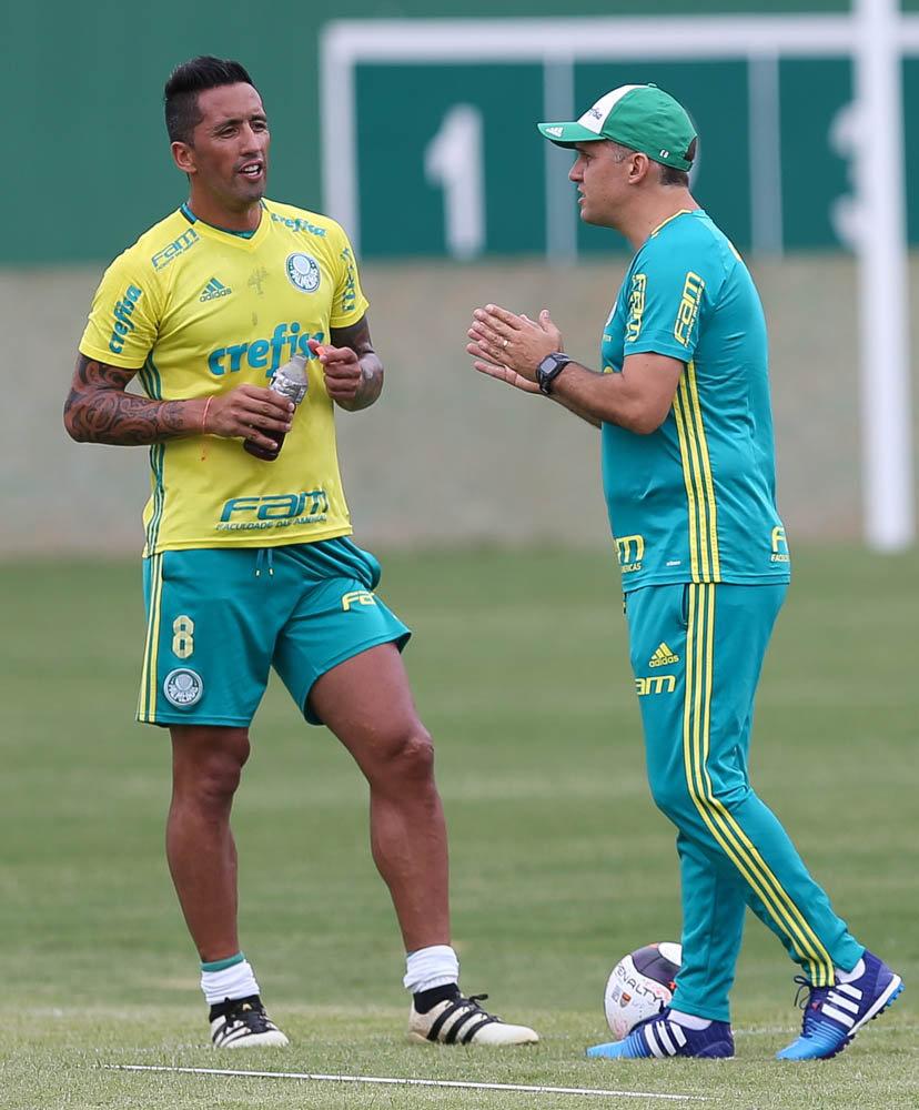 Verdão realizou na manhã desta quinta-feira (09) uma atividade tática em preparação ao duelo com o Ituano. (Cesar Greco/Ag Palmeiras/Divulgação)