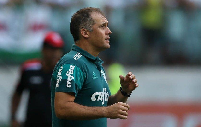 'Bateu um pouco o desgaste e nos desorganizamos', disse Eduardo Baptista o jogo contra o Botafogo-SP. (Cesar Greco/Ag Palmeiras/Divulgação)