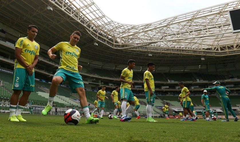 O camisa 10 Moisés pode estrear na temporada na quinta (16). (Cesar Greco/Ag Palmeiras/Divulgação)