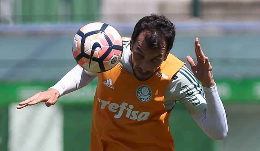Poupado contra o São Paulo, Dracena está novamente à disposição de Eduardo Baptista. (Cesar Greco/Ag. Palmeiras/Divulgação)