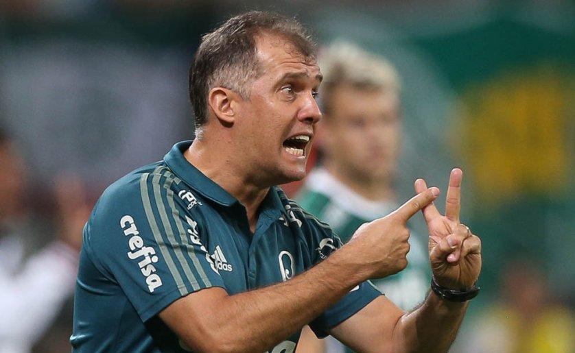 Eduardo elogiou a postura alviverde diante da experiente equipe boliviana. (Cesar Greco/Ag. Palmeiras/Divulgação)