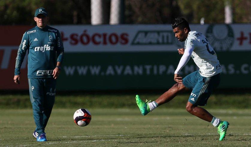 O Palmeiras se reapresentou na tarde desta quinta-feira (30), na Academia de Futebol. (Cesar Greco/Ag. Palmeiras/Divulgação)