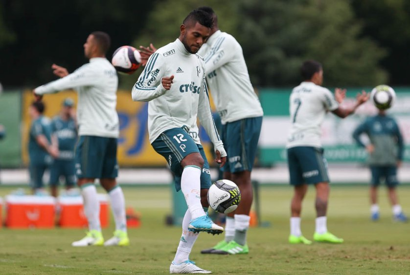 O colombiano Borja foi campeão da Libertadores do ano passado, pelo Atlético Nacional-COL. (Cesar Greco/Ag Palmeiras/Divulgação)