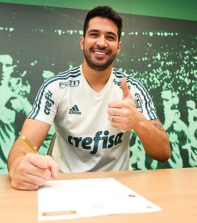 O zagueiro Luan assinou com o Verdão até março de 2022. (Fabio Menotti/Ag Palmeiras/Divulgação)