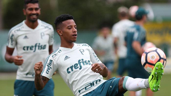 Verdão se prepara para o duelo de quarta (12), contra o Peñarol. (Cesar Greco/Ag. Palmeiras/Divulgação)