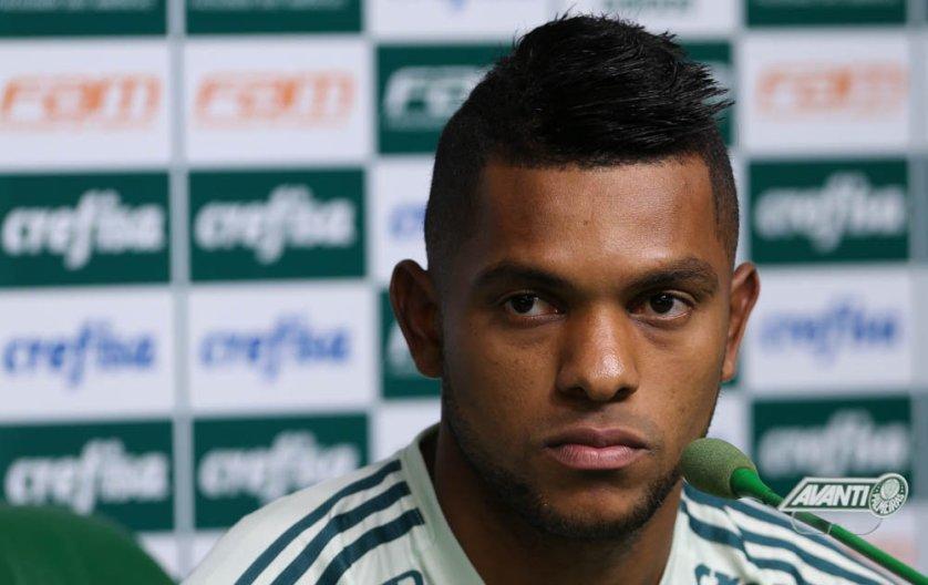 O camisa 9 do Verdão marcou duas vezes na goleada sobre o Vasco, no domingo (14). (Cesar Greco/Ag. Palmeiras/Divulgação)