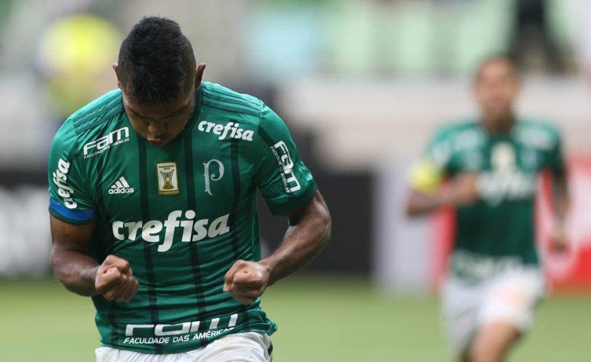 Novo dono da camisa 9, Borja chegou a seis gols em 14 jogos pelo Verdão. ( Cesar Greco/Ag. Palmeiras/Divulgação)