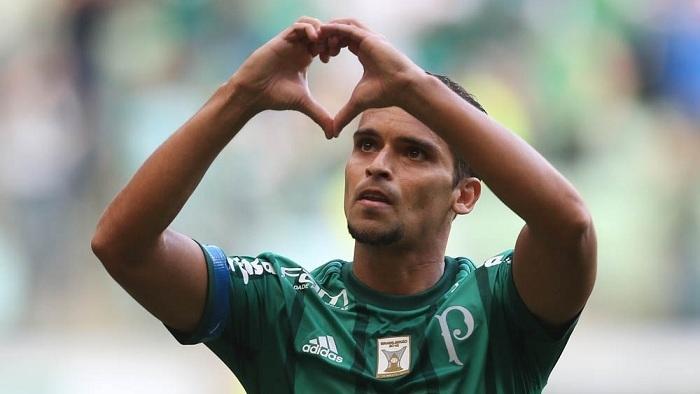 Jean anotou o primeiro gol do Palmeiras no Campeonato Brasileiro de 2017. (Cesar Greco/Ag Palmeiras/Divulgação)