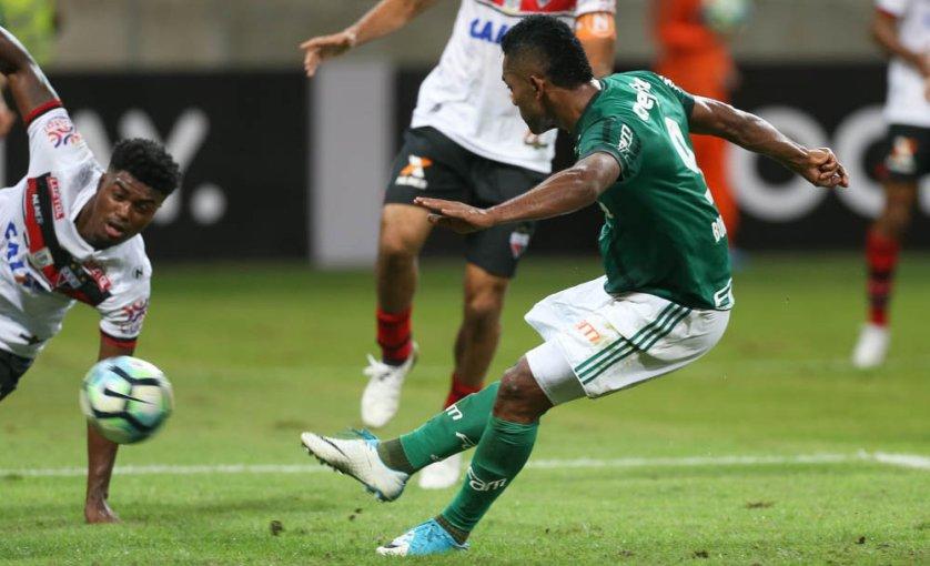 Borja marcou o único gol do jogo. (Cesar Greco/Ag. Palmeiras/Divulgação)