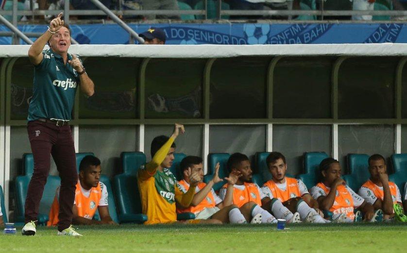 Em duas passagens, Cuca chegou a 61 jogos no comando do Verdão. (Cesar Greco/Ag. Palmeiras/Divulgação)