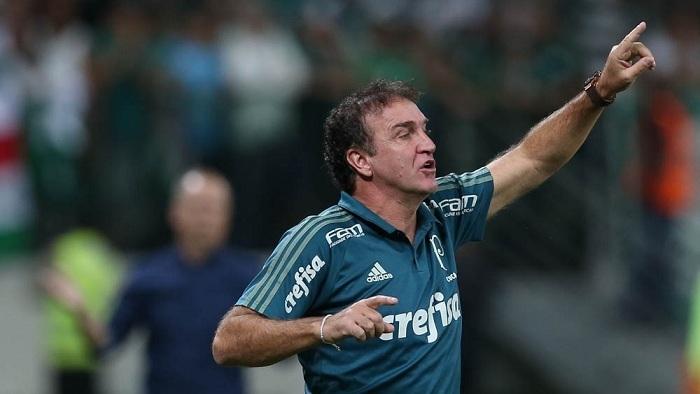 Técnico Cuca exaltou apoio da torcida palmeirense. (Cesar Greco/Ag Palmeiras/Divulgação)