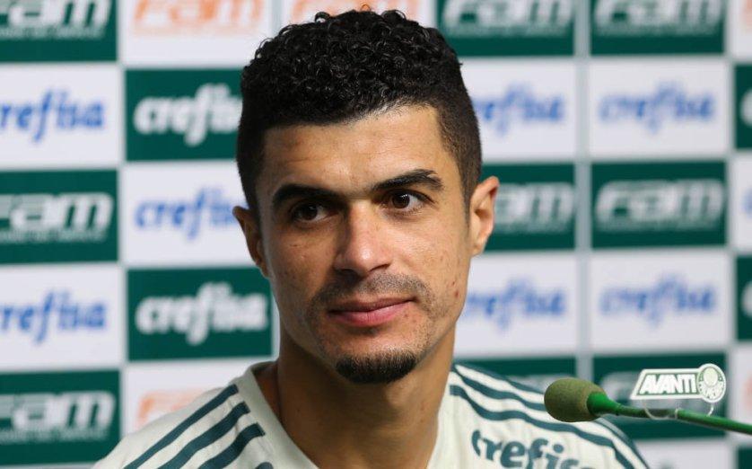 O lateral-esquerdo Egídio foi titular na vitória contra o Bahia. (Cesar Greco/Ag Palmeiras/Divulgação)