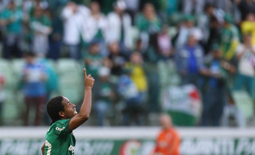 Keno completou 25 jogos com a camisa do Palmeiras contra o Fluminense. (Cesar Greco/Ag Palmeiras/Divulgação)
